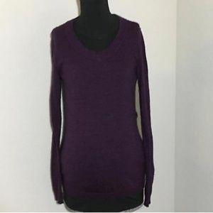 Gap Maternity Sweater Scoopneck Purple Sz M