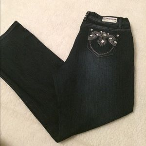 Rich Cow  Women's Jeans Size 16 Bling Embellished