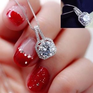 Holiday Sparkle Solitaire Necklace 1ct