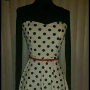 Black & white polka-dot dress (NWT)