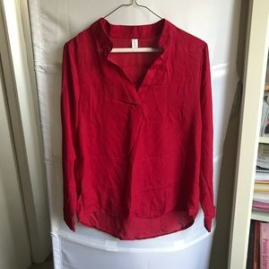 NWOT red Sheer Top