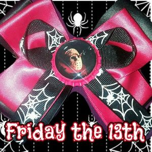 Psychobilly Horror Friday The 13th bow