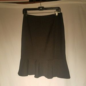 REBECCA TAYLOR charcoal wool blend skirt, size 8