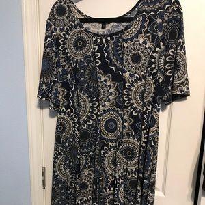 Midi-length dress,  Fit & Flare, medallion print