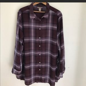 H and M long sleeve button down