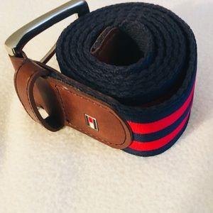 Tommy Hilfiger Striped Ribbon Belt