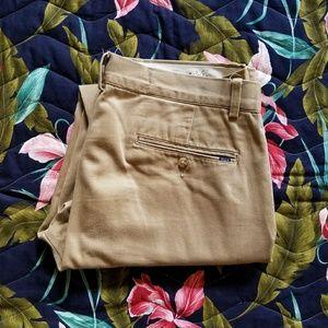 Authentic Polo Ralph Lauren Flat Front Khakis