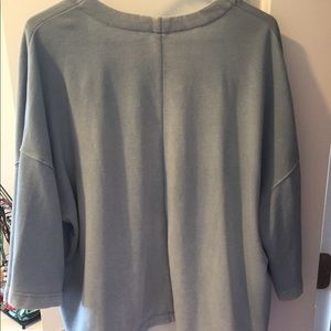 GAP Short Sleeved Cardigan Sweater, Rustic Blue