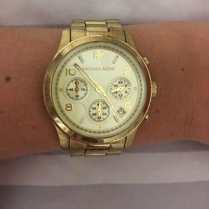Gold tone Michael Kors watch!