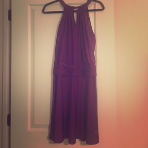 Plum purple cocktail dress