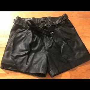 BISOU BISOU Faux Leather Shorts