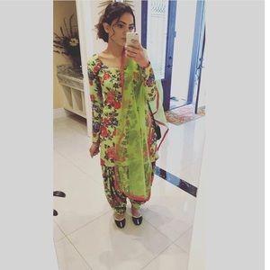 Elegant floral Indian suit