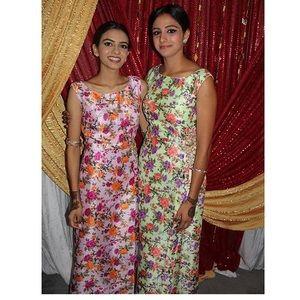 Pink floral Indian suit