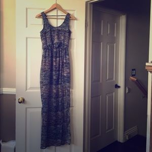 Lush Tribal Aztec Multicolor Maxi Dress Small S