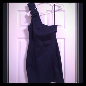 One shoulder blue dress by French Connection