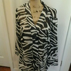 additions by chico zebra print open throw sharp