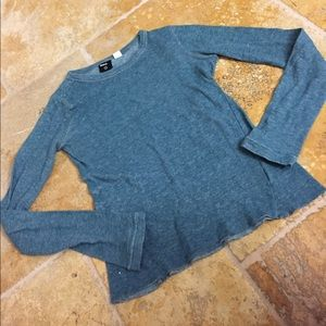 BDG Urban Outfitters teal long sleeved thermal