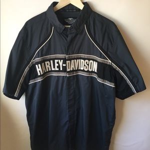 Men's Harley Davidson Mechanics button shirt XL