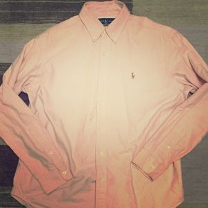 Men's large button down polo