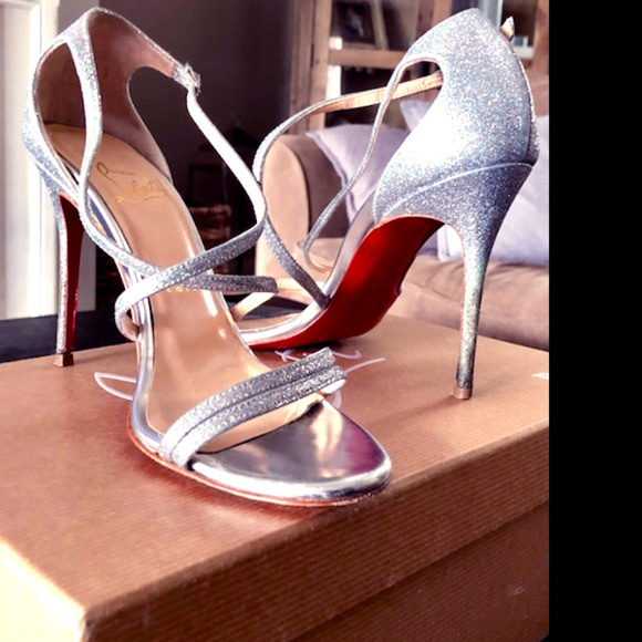 22b54ec8672 Christian Louboutin Gwynitta 100 glitter sandal