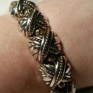 Premier Designs Amazing Silver & Gold Bracelet