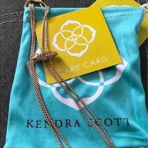 Kendra Scott Cheska Bolo necklace , Rose Gold NWT