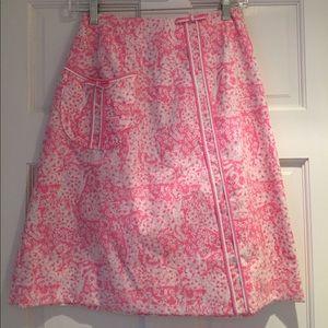 Lilly Pulitzer Vintage Pink Cheetah Skirt