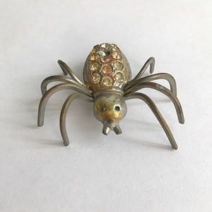 Vintage 1920s Spider brooch with C-Clasp🕷🕸
