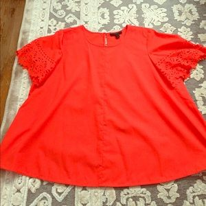 JCrew top with detailed sleeves