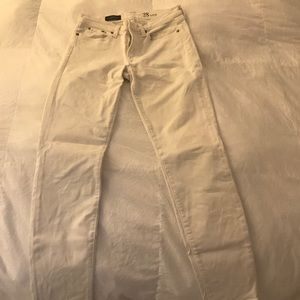 JCrew white toothpick jeans