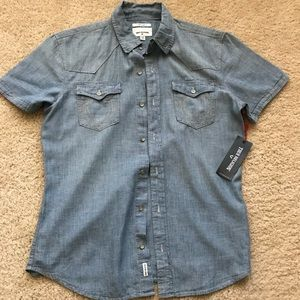 True Religion short sleeve jean shirt