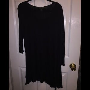 Forever 21 Black High / Low Shirt Size 1X