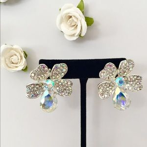 NWT🌺FLORAL PAGEANT PROM WEDDING FORMAL EARRINGS ✨