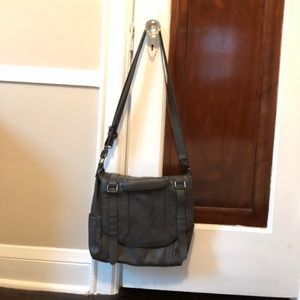 BCBGenerstion Gray Messenger Convertible Backpack