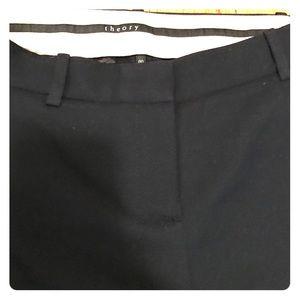 Dark navy textured wool theory pants