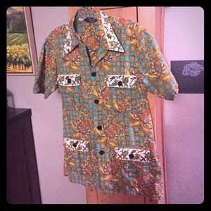 Handpainted Batik Shirt by Singa Batik House