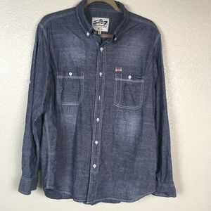 Seven7 Chambray Denim Button Down Shirt