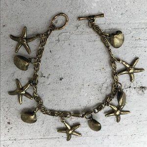 """🌼🌼 Charm Bracelet, Beach, 8-3/4"""", Anthem brass"""