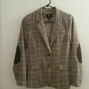 H&M Plaid Check Blazer Jacket S 6