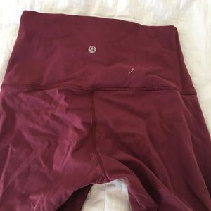 Wine colored high waisted leggings