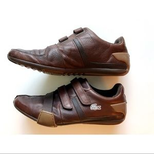 0463b0760772 Lacoste Shoes - Lacoste Men s Brown Leather Velcro strap sneakers