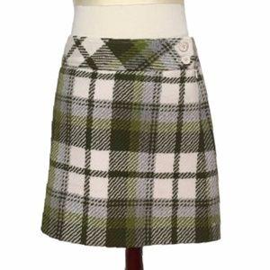 J CREW preppy plaid woven wool skirt 2
