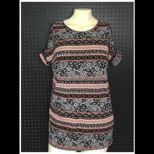 XS Flowy Paisley Tunic with Dolman Sleeves