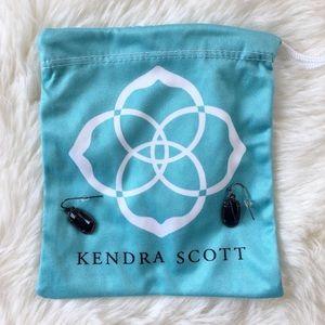 Kendra Scott black Lee earrings