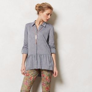 ANTHROPOLOGIE Shirt Sunday in Brooklyn Wiley Tunic