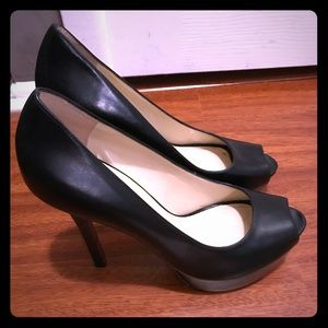 Enzo Angiolini Black Heels. Height is 4.5 inches.