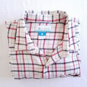 Columbia plaid flannel shirt