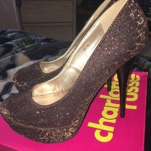 Charlotte Russe leopard bronze heels size 8