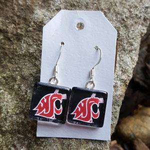 WSU Cougars Earrings WAZZU Cougs Earrings Pac 12