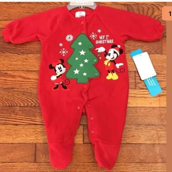 baby first christmas one piece pajamas 0 3m disney